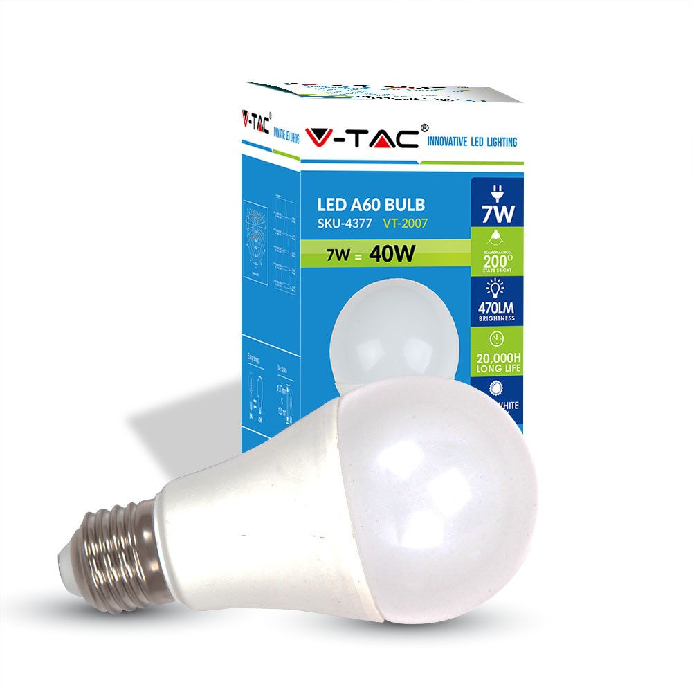 Bombilla Led E27 7w Luz Blanco Natural - Andalucia Led